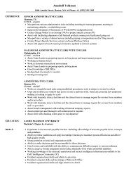 administrative clerk resume sles velvet