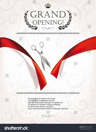 Invitation Card For Home Opening Ceremony Grand Opening Invitation Card Silver Scissors Stock Vector