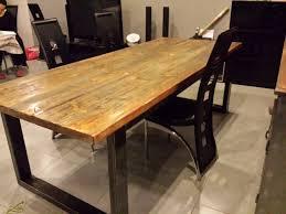 table de cuisine en bois avec rallonge table salle a manger bois et fer table cuisine maison