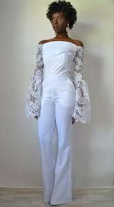 Wedding Dress Jumpsuit New Design Savannah Off The Shoulder Bridal Jumpsuit