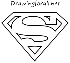 draw superman logo drawingforall net