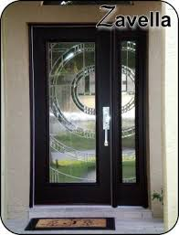 Exterior Glass Door Inserts 8 Ft Front Door With Matching Sidelight Silver Caming In This