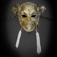 venetian jester mask luxurious venetian jester mask gold white tassel