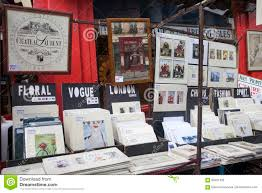 beautiful cards for sale in the portobello market near notting