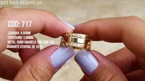 rei das aliancas alianças luxuosas brooklin diamante na feminina cód 717 rei das