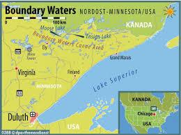 Bwca Map Stille Seen Und Schwarzbären Paddelglück In Boundary Waters N Tv De