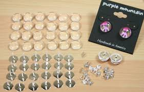 make your own earrings studs earring kit makes 12 pair includes earring posts and