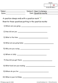 primaryleap co uk question marks 1 worksheet