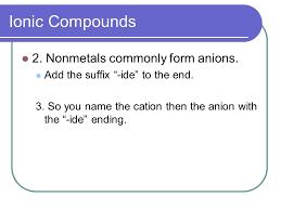 chemical nomenclature naming and writing chemical formulas ppt