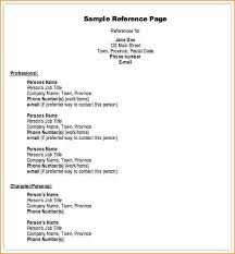 Resume Questionnaire Template References Template Resume References Sle Page Jpg