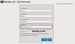cara membuat yahoo mail di blackberry cara mengganti email akun blackberry id akriko com