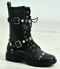 womens combat boots uk womens studded boots combat ankle lace up