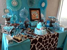 safari baby shower ideas blue and brown safari baby shower ideas amazing candy table for