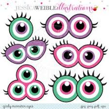printable girly photo booth props girly monster photo props printable instant download monster eyes