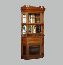 Antique Curio Cabinet With Clock Antique Curio Cabinets 1900 1950 Ebay