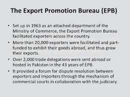 export bureau tdap trade development authority of pakistan