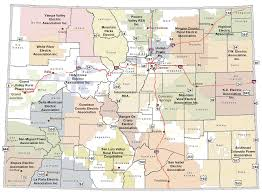 Zip Code Map Colorado by Colorado Rural Electric Association Co Op Map Of Colorado U0026 List