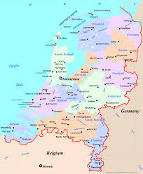 Map Of Luxembourg Located On The North Sea And Our Neighbors Are The Netherlands