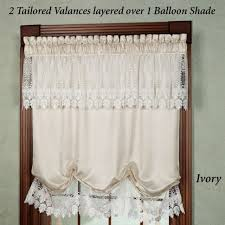 Lace Valance Curtains Curtains Country Lace Swag Valance Curtains With Attached