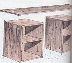 construire bureau fabrication d un bureau en bois meuble de salledebain en bois