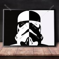storm trooper star wars canvas art print painting poster wall
