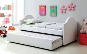 Twin Bed Frame With Trundle Pop Up White Daybed With Trundle Furniture Gretchengerzina Com