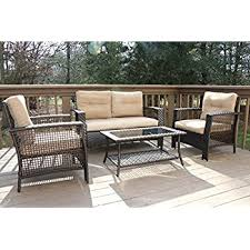 How To Keep Cats Off Outdoor Furniture by Amazon Com Best Choice Products 4 Piece Cushioned Patio