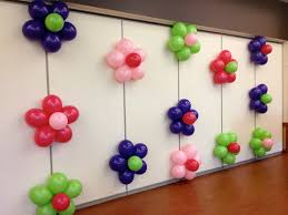 how to make birthday decoration at home balloon flower wall 90th party pinterest balloon flowers