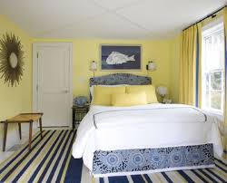 excellent blue and yellow color scheme for scandinavian bedroom
