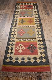 Indian Runner Rug Indian Rug Ethnic Indian Alwar Wool Jute Kilim 75x240cm Hallway