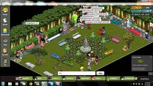 habbo hangout with friends at the habbo park youtube