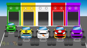 monster trucks video for kids super heroes monster trucks garage kids learning colors video