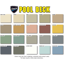 dyco pool deck color chart deks and tables decoration