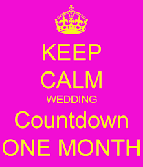 Wedding Countdown Keep Calm Wedding Countdown One Month Poster Jenny Keep Calm O
