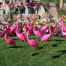 aliexpress buy 15 pink plastic flamingo animal figurines and