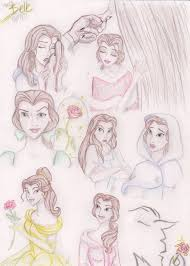 disney sketch colored belle by humanstick on deviantart