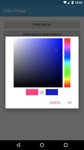 android color picker creating color picker dialog in android learn programming together