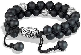 black onyx beads bracelet images David yurman spiritual beads two row bracelet with black onyx and jpg