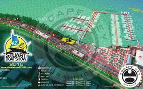 Map Of Stuart Florida by Boat Show Map Illustration