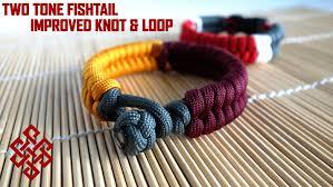 make paracord bracelet knot images Make a two color fishtail no buckles paracord bracelet tutorial jpg