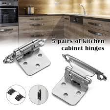 kitchen cabinet door mounting hardware 5 pairs overlay cabinet hinges semi concealed cupboard hinges mount cabinet door hardware self closing in stock