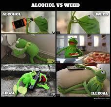 Kermit Meme Images - kermit shows alcohol vs marijuana weed memes