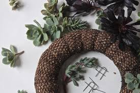 wreath supplies diy a succulent wreath to display all year gardenista