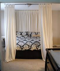 Diy Canopy Bed Drapes Above Bed Diy Canopy Bed Using Curtain Rods Above Bed Onto
