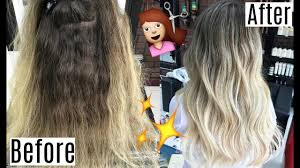 should wash hair before bayalage balayage transition before after hair results youtube