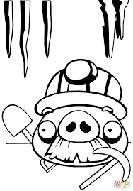 moustache pig coloring free printable coloring pages