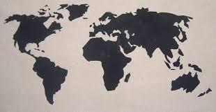 World Map Fabric by Chapman Place World Map Pillow