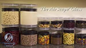 airscape glass kitchen canister for food storage by planetary