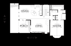 L Shaped Floor Plan by Mascord House Plan 2193 The Sullivann