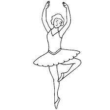 ballerina dancing on her toe coloring page ballerina dancing on